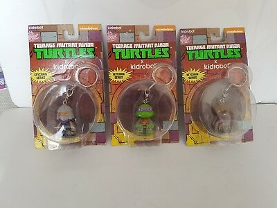 Kidrobot Set Of 3 Teenage Mutant Hero Turtles Keychains Tmnt Bundle Lot1 Mit Einem LangjäHrigen Ruf Film, Tv & Videospiele Action- & Spielfiguren