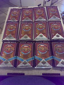 Lot of 35 Factory Sealed 1991-92 Upper Deck Basketball Packs