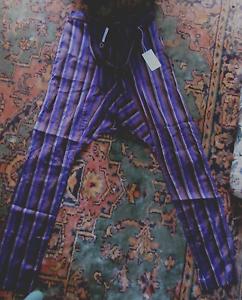 Victor-Victoria-Donna-Beautiful-100-Silk-Italian-Trousers-Size-42