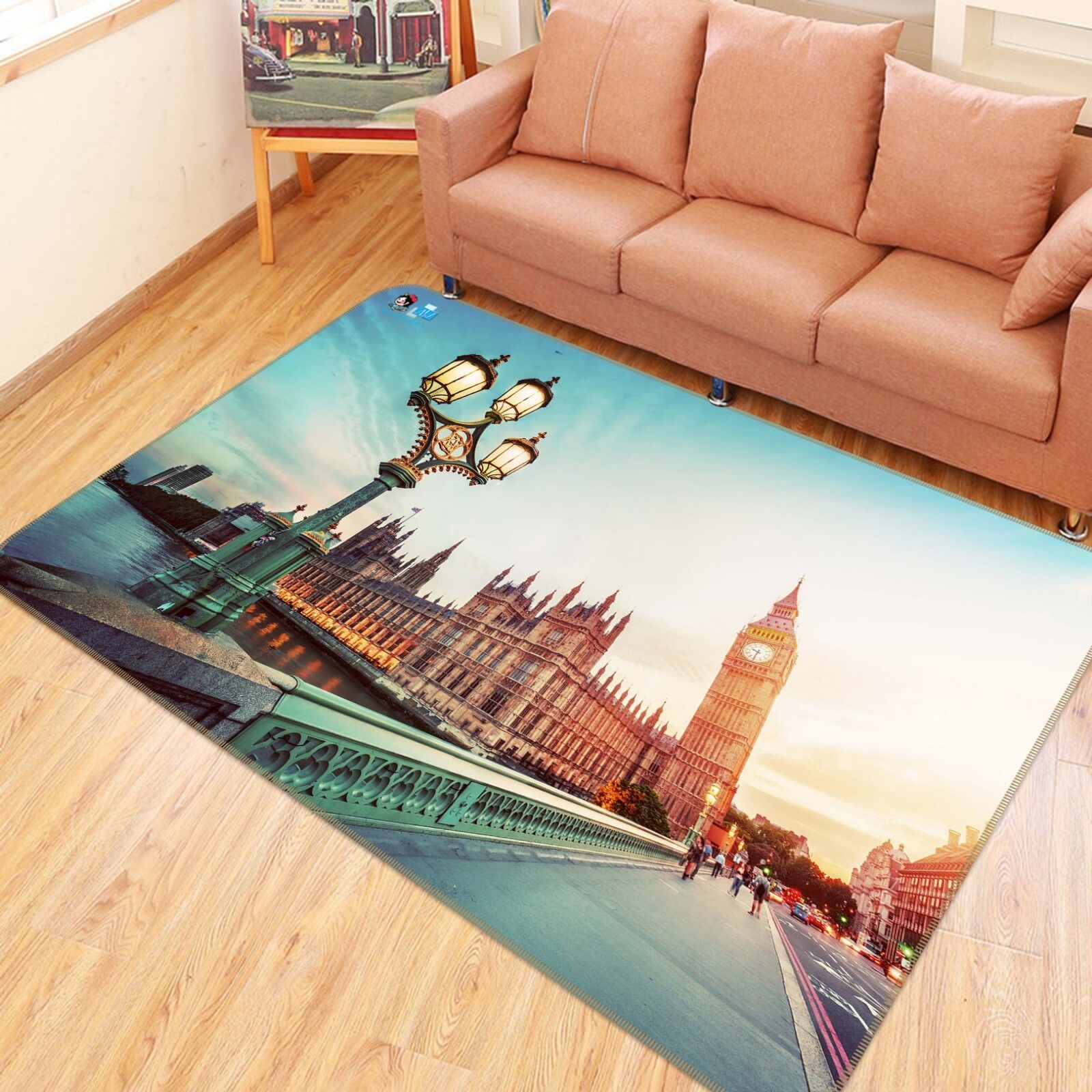 3D London Scenery 2002 Non Slip Rug Mat Room Mat Quality Elegant Photo Carpet AU
