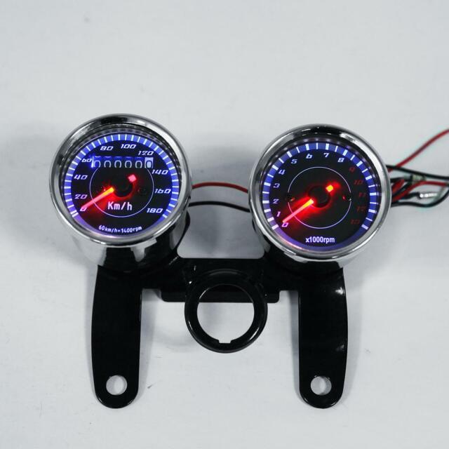 Universal Led Motorcycle Tachometer Odometer Speedometer