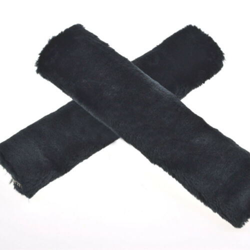 2Pcs Plush Car Seat Belt Harness Cover Soft Shoulder Cushion Pad Strap Wrap