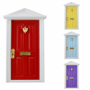 Miniature-Wood-Fairy-Door-Garden-Assembled-Furniture-Dolls-House-For-1-12-E5E9