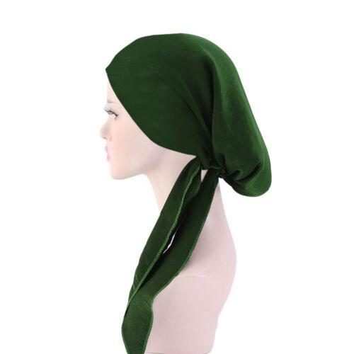 Muslim Hair Loss Head Scarf Head Wrap Ladies Stretch Turban Cancer Hat Chemo Cap