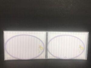 2 Laurel Ink Fine Art Stationary Liliput Lavender Purple Oval Cards Envelopes