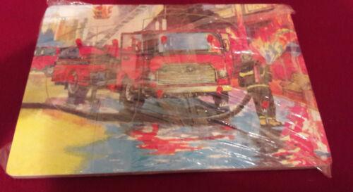 Holzspielzeug Feuerwehr Löschzug Kinder Holz Puzzle 10 Teile 30 x 21,5 cm