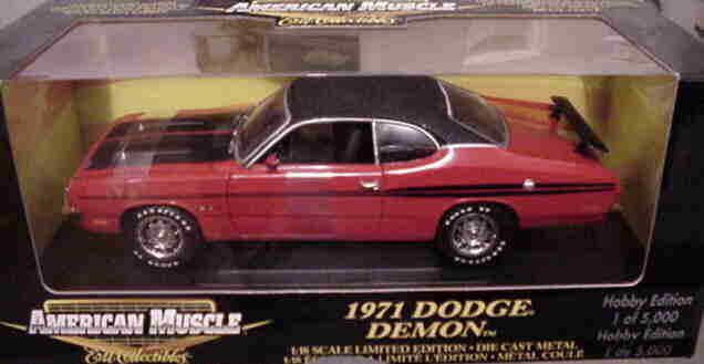 1971 Dodge Demon rojo 1 18  33201