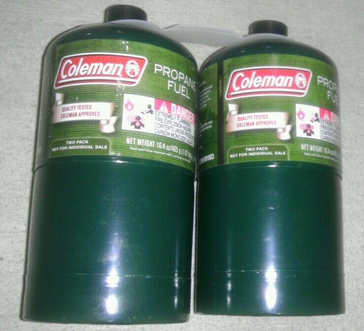 NEW Coleman Propane Cylinders Tanks, 16 or 16.4 oz, Set of 3, Camping, Survival
