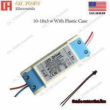 Constant Current LED Driver 30W 10-18X3W Lamp Light Bulb Power Supply USA