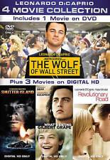Leonardo Dicaprio: 4-Movies WOLF OF WALL (DVD) 1-DVD + 3 UV DIGITAL HD COPIES LN