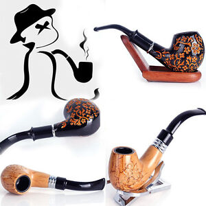 New Vintage Wooden Smoking Pipe Durable Classic Tobacco Cigarettes Cigar Pipes