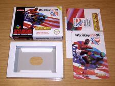WORLD CUP USA 94 - SOLO CAJA E INSTRUCCIONES SIN JUEGO - SUPER NINTENDO SNES