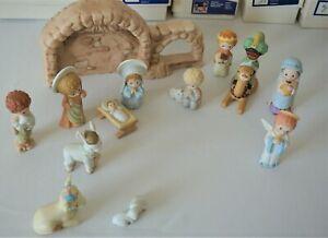 Hallmark-Nativity-Set-Mary-Hamilton-1981-w-Boxes-VHTF-Christmas-Hand-Painted