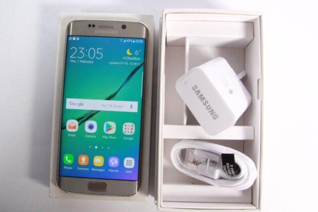 Samsung Galaxy S6 Edge SM-G925F - 32GB - Gold (Unlocked) GOOD, GRADE B 895