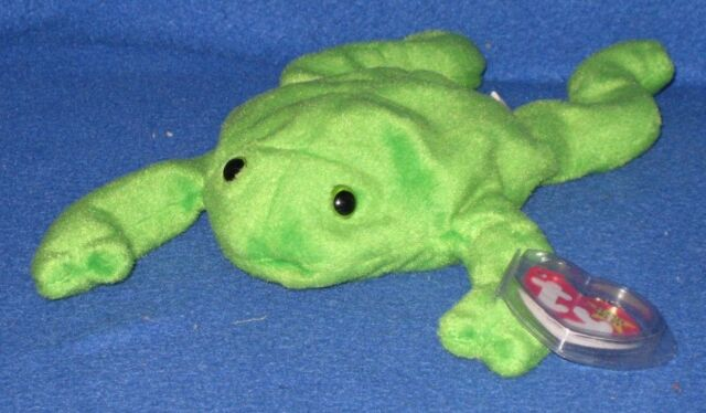 Ty Beanie Baby Legs Green Frog MWMT Canadian 3rd Gen Tush Tag 4 HT April 25  1993 22faf6d1c18