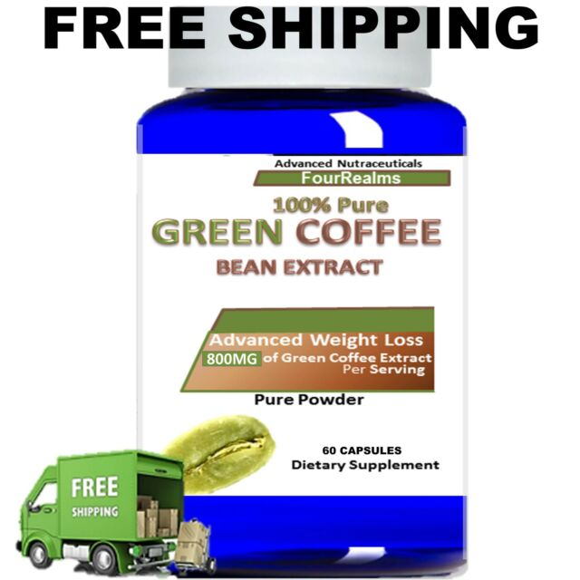 Pure Green Coffee Bean Extract 800 mg 50% Chlorogenic Acid ...