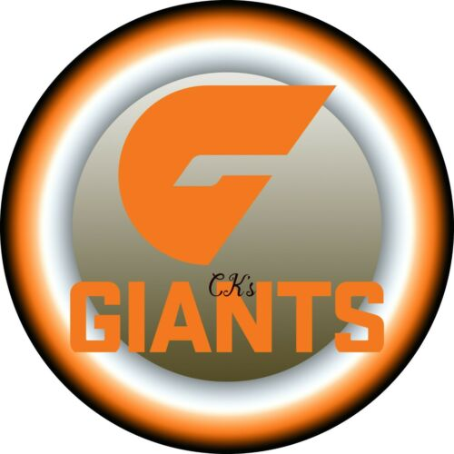 AFL  GWS Greater Western Sydney Giants 7 INCH EDIBLE IMAGE CAKE /& CUPCAKE TOPPER