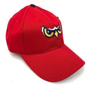 Orem-Owlz-Owls-Minor-League-Baseball-Cap-Hat-Adult-Youth-Curved-Brim-Red-Eyes