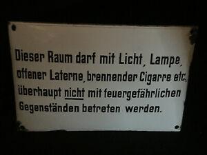 Esta-Espacio-Darf-con-Luz-Senal-de-Prohibicion-Aviso-Esmalte-Zuckergus-Di-1930