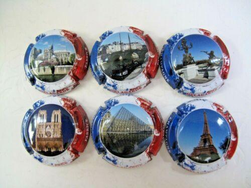 monuments de Paris Série de 6 new capsules de champagne  DELAGARDE Fabrice