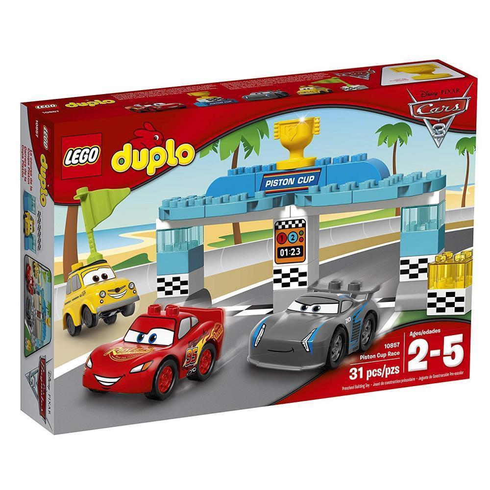 LEGO Duplo 10857 Piston Cup Rennen Cars Kinder Spielzeug für Jungen ab 2 Jahren