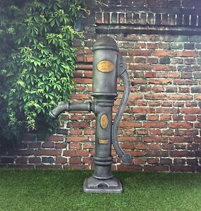 Garden pond water feature ornamental village hand pump for Ornamental pond pumps