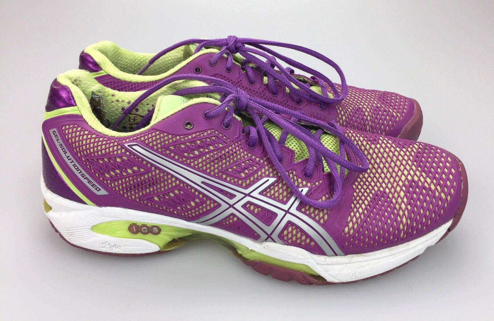 Asics GEL SOLUTION SPEED 2 Running chaussures E450Y femmes's Taille 10 42 violet vert