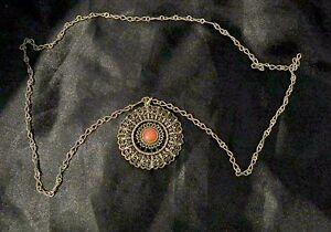 collar-GRAND-colgante-de-plata-coral-Etnico-tibet-mandala-collar-asia