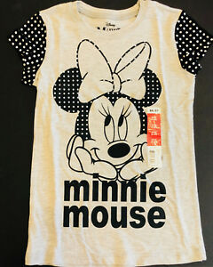 83bcaf966785c Disney Minnie Mouse Cute As Can Be Face Girls T-Shirt Kids Youth ...