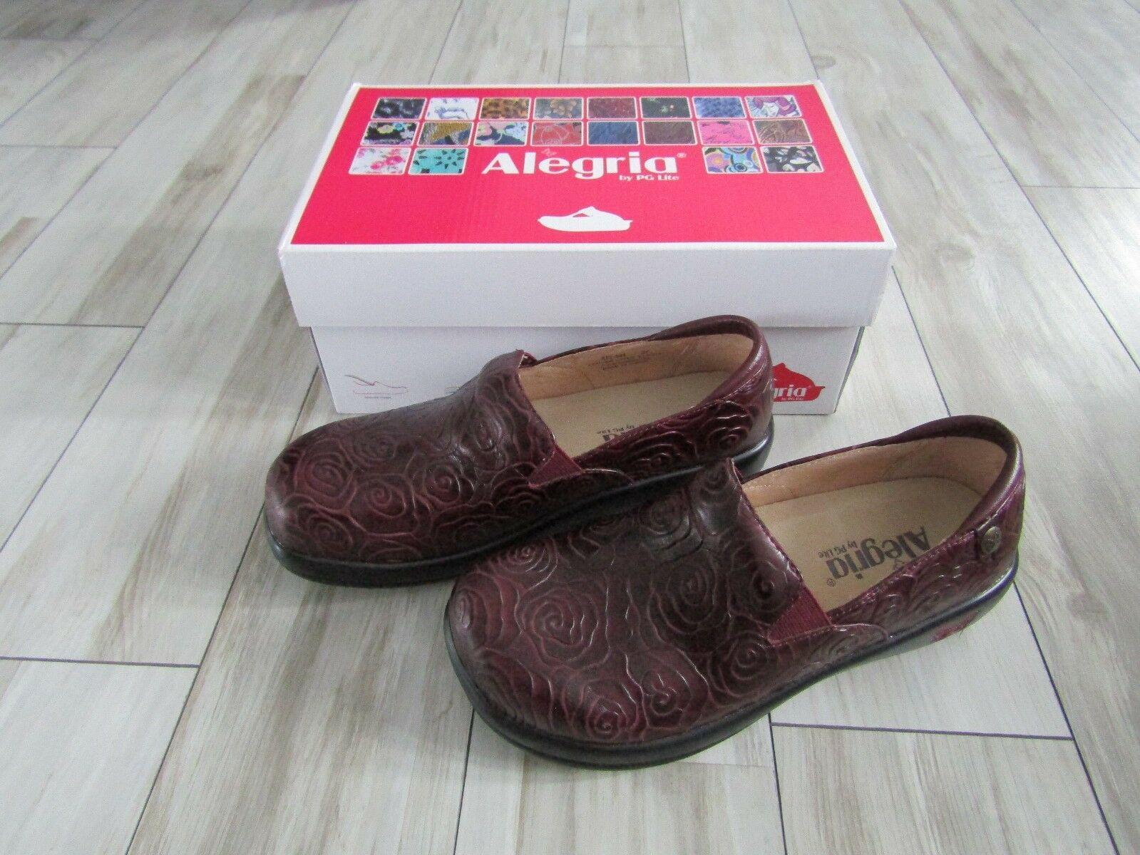 Alegria Keli Wine pinktte Nurse Doctor Chef shoes Clogs NIB