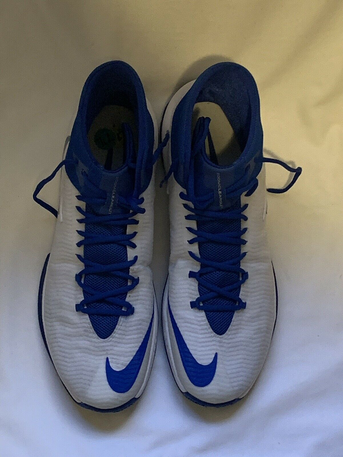 Men's Nike Basketball shoes Zoom Clear Clear Clear Out  Hyperquickness bluee White Size 17.5 38cc55