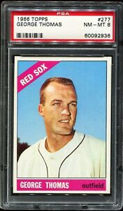 1966-Topps-277-GEORGE-THOMAS-Boston-Red-Sox-PSA-8-NM-MT