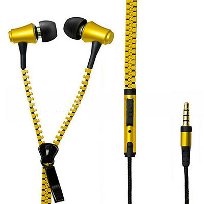 Crytec Zipper latest In-Ear Earphone Headphone For Mobile With Mic 3.5mm Jack