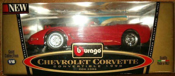 chevrolet corvette 1:18 gold collection