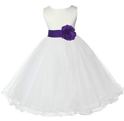 PURPLE FFlower Girl Dress Pageant Recital Bridesmaid Birthday Wedding Formal