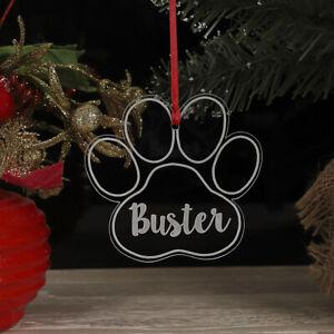 ALBERO-di-Natale-personalizzata-Cane-Gatto-Paw-decorazione-regalo-di-Natale-ornamento-bauble