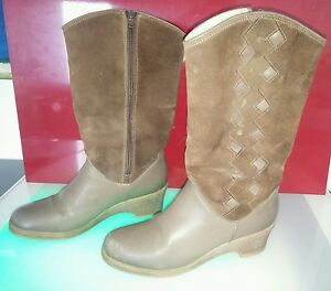Pajar-boots-size-7-5-women-good-condition-suede-leather-shearling