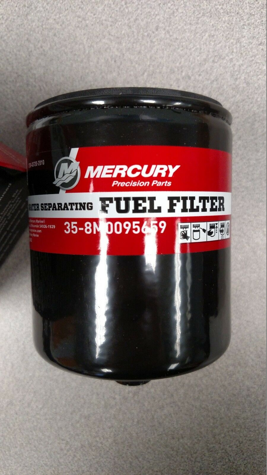 4 Pack Of Mercury Water Separating Fuel Filter 35 8m0095659