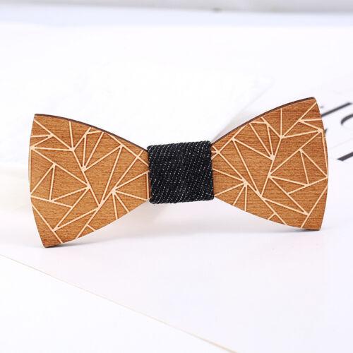 Creative Men/'s Wooden Bow Tie Wedding Party Wood Bowtie Adjustable Necktie