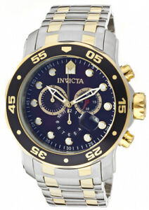 Invicta-Men-039-s-Pro-Diver-Quartz-Chrono-200m-Two-Tone-Stainless-Steel-Watch-0077