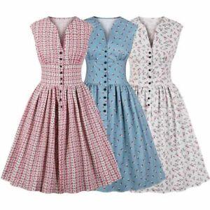 Robe-Vintage-Annees-50-Annees-60-Style-Retro-Rockabilly-Pinup-Femme-au-Foyer