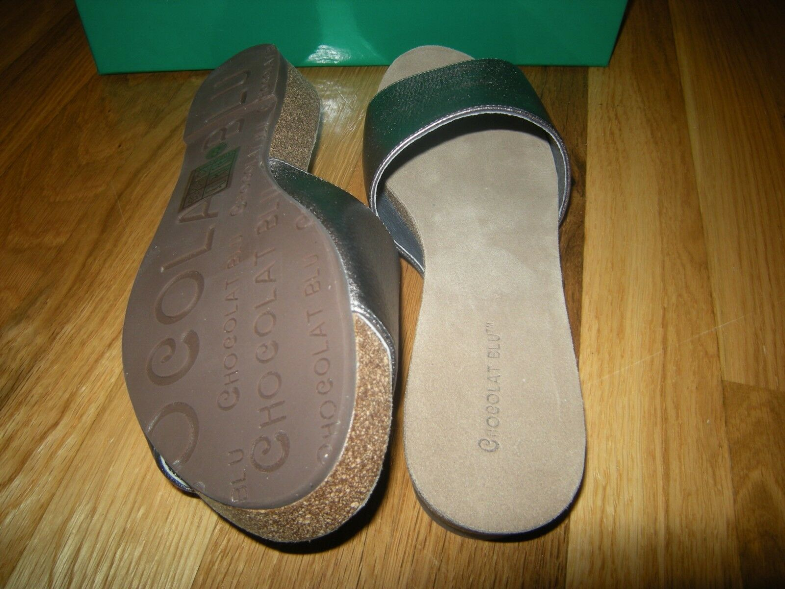 Brand New Chocolat Blu Viveca Gunmetal Leather Sandal, Dimensione Dimensione Dimensione 7.5 aba7b9