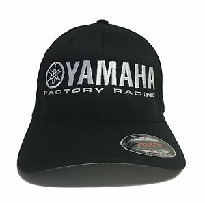 3c251d18fc63a Yamaha Factory Racing hat cap fitted flexfit curved bill red blue s ...