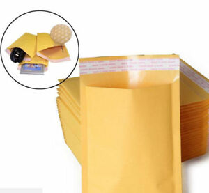 10-20-50-100Pcs-Kraft-Bubble-Padded-Envelopes-Mailer-Yellow-Paper-Self-Seal-Bag