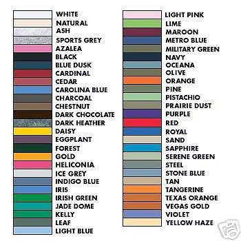 Gildan 100/% Ultra Cotton Tee  Colors 12 Lot SM to XL