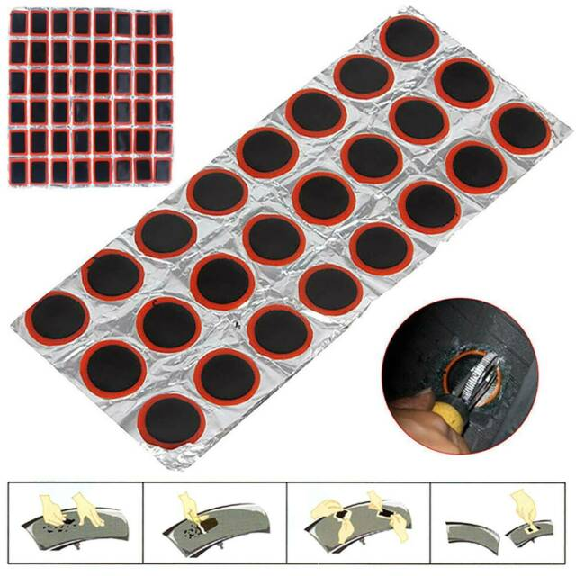 48PCS 25mm Round Rubber Bicycle Tire Patch Cycle Repair Tools Tube Puncture~ee