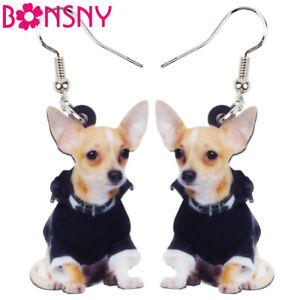 BONSNY  Goat earrings Jewellery Charm Farm Pet animal women girls gifts