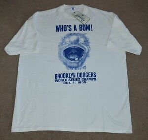 87ab24bdb NWT Brooklyn Dodgers Who s a Bum Shirt XL 1955 World Series ...