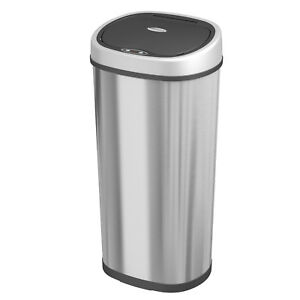 Stylish Trash Dust Waste Can Touchless Dustbin Automatic Sensor Trash Can Waste Bins for Living Room Bedroom Kitchen and Bathroom,Blue