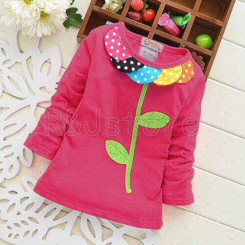 2018 Brand New 100/% Cotton Baby Tops  Long Sleeve Novelty style T-Shirt